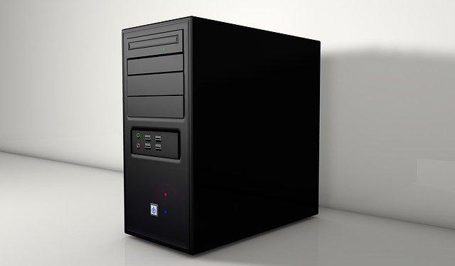 černý počítač
