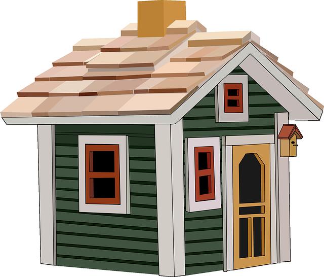 malý domek ilustrace