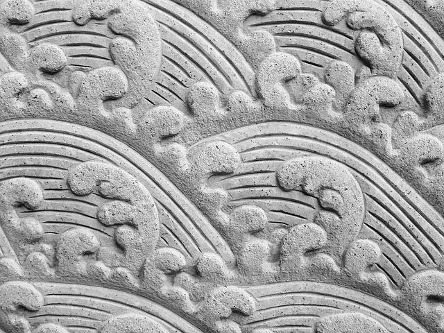 ozdobný beton vlny