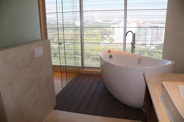 koupelna s výhledem