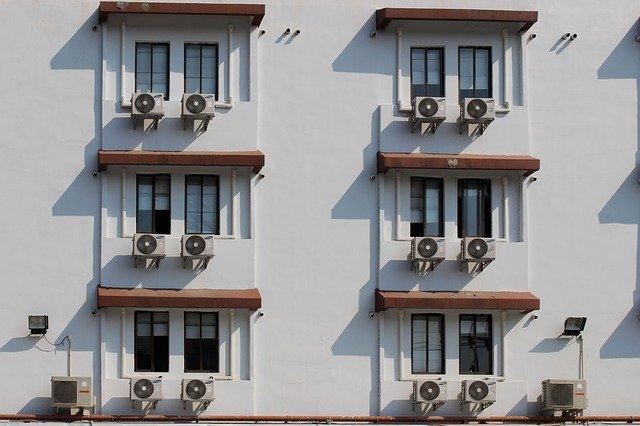 okna, dům, klimatizace