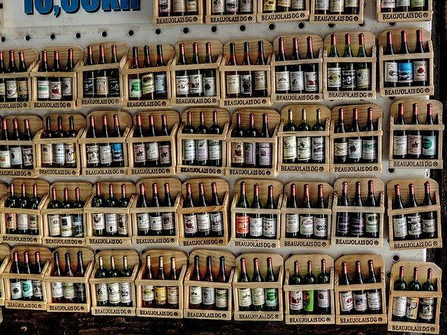 vína v obchodu