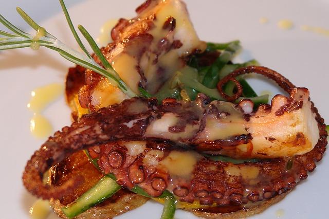 smažená chobotnice