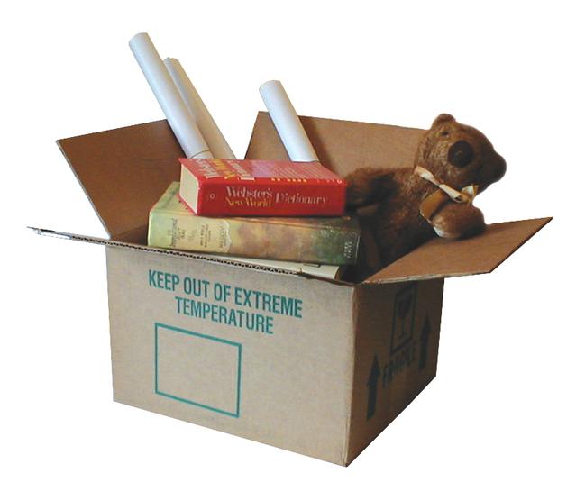 balení věcí do krabic při stěhování
